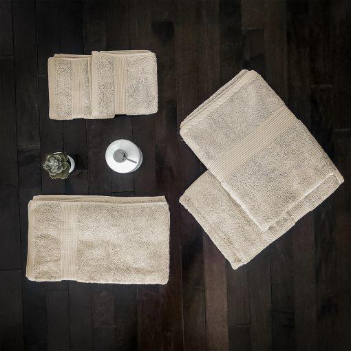 Paarizaat Bamboo Towel set (Beige-Yellow)