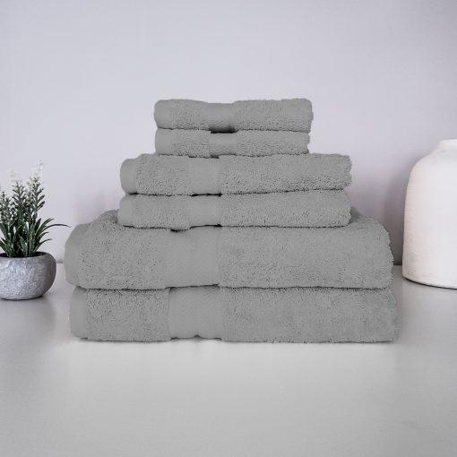 Paarizaat Organic Cotton Towel (Medium Grey) Set