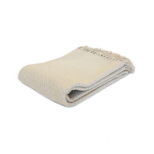 Beige 100% cotton throw from Paarizaat