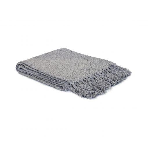 Light Grey 100% cotton throw from Paarizaat