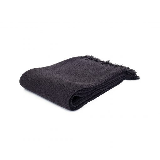 Charcoal 100% cotton throw from Paarizaat
